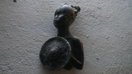 Figura de mujer negra en el Museo Afroperuano de Zaña.